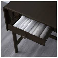 Furniture Home Ingatorp Drop Leaf Table Black Brown Pe S Modern