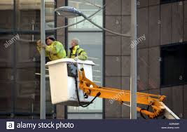 how do street lights work street light workers work on lighting in birmingham city centre re