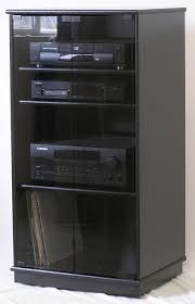 oak tv cabinets with glass doors of small black oak tv stand with gray tint glass doors