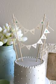 cake banner topper just hitched burlap alternative bunting banner wedding cake