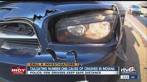 tailgating no 1 cause of indiana crashes theindychannel com
