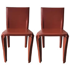 Italian Leather Dining Chairs Twelve Italian Black Leather Dining Chairs By Arper For Sale At