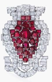 a cartier art deco ruby and diamond clip brooch auctioned by