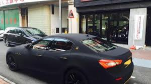 matte black maserati maserati ghibli with matte black suede wrap looks striking