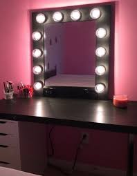 bedroom vanity with lighted mirror small makeup vanity with lights home design ideas