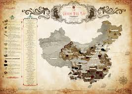 Chinese World Map by The Chinese Herb Map Visual Ly