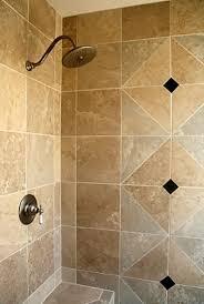 bathroom simple and neat design ideas using travertine tile