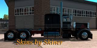 peterbilt and kenworth peterbilt 389 black sr skin mod american truck simulator mod