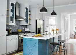 yellow and blue kitchen design ideas