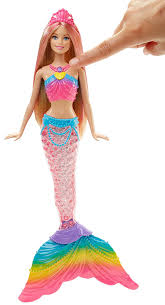 amazon barbie rainbow lights mermaid doll toys u0026 games
