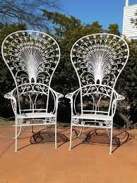 Vintage Woodard Wrought Iron Patio Furniture by Vintage Salterini Peacock Chairs For Sale At 1stdibs