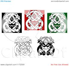clipart of celtic wolf or designs 3 royalty free vector