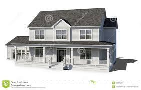 Two Story Home Two Story House White Stock Illustration Image 55857538