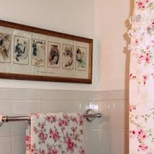 Shabby Chic Bath Towels by Simple Bathroom With Simply Shabby Chic Shower Curtains And Pink
