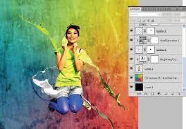 membuat latar belakang foto blur dengan photoshop fresh colorful photo manipulation dengan photoshop dhimas
