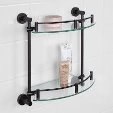 Glass Shelves Bathroom Bristow Tempered Glass Shelf Two Shelf Bathroom