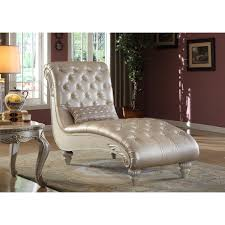 Leather Chaise Lounge Sofa by Marquee Pearl Leather Chair By Meridian Furniture 652 C