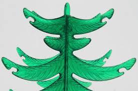 green lucite plastic tabletop tree vintage decoration