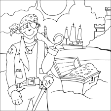 pirate colouring pictures