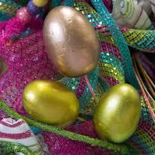 metallic easter eggs 13 metallic easter egg spray 3 eggs pink green gold