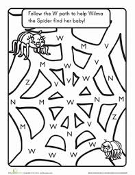 the letter w a maze worksheet education com