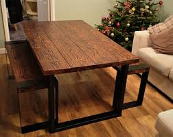 industrial dining room table industrial dining table etsy