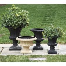 patio urns home design ideas and pictures