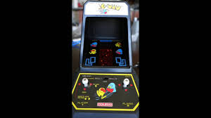 Pacman Game Table by Vintage 1981 Pac Man Mini Table Top Arcade Video Game Coleco
