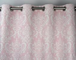 Light Pink Curtains Light Pale Pink White Osborne Damask Curtains Grommet