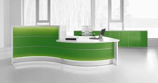reception desk with lower and extended desk
