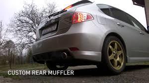 subaru impreza hatchback custom subaru impreza wrx 2008 custom rear muffler youtube