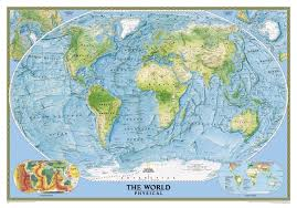 Large World Map Poster by Physical Map Of The Sea Floor Phisical Map Of The Earth 221b