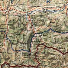 Wwii Map Of Europe by Wwii Map Of The Pyrenees 1943 France Spain Border Battlemaps Us