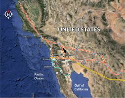 Mexicali Mexico Map by Highways Invest In Baja