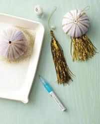 sea shell tree ornaments glitter galore