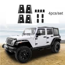 grey jeep wrangler 4 door 4pcs set black door hinge cover trim for 2007 2017 jeep wrangler 4