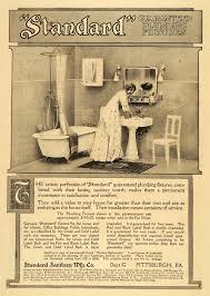 1909 ad bathroom knickerbocker motts plumbing fixtures early