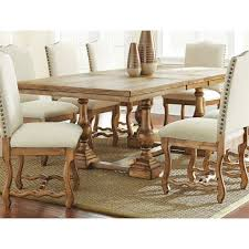 steve silver plymouth dining table oiled oak hayneedle