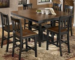 black dining room table with leaf black counter height table and chairs stephanegalland com