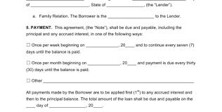 money lending contract format money lending agreement format