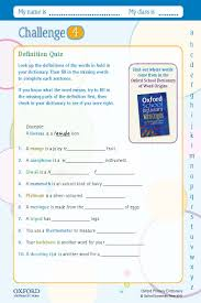 Challenge Dictionary Your Free Oxford Primary Dictionary Challenge Worksheet
