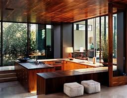 ideas mid century modern kitchen design with wood ceiling and