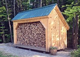 Diy Firewood Shed Plans by Designed To Hold Four Cords Of Wood This Wood Shed Is Our Most