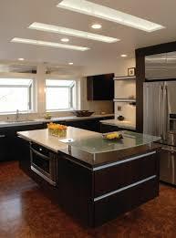 faux plafond design cuisine maison stylée contemporaine à l aide de plafond moderne archzine fr