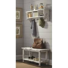 corner coat rack bench wayfair