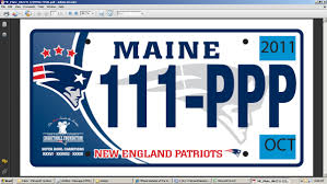 Maine State Vanity Plates New England Patriots To Unveil Maine License Plates Wednesday