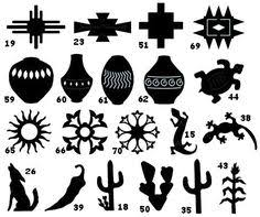 southwestern designs kokopelli stencil cactus stencils sun flute southwestern