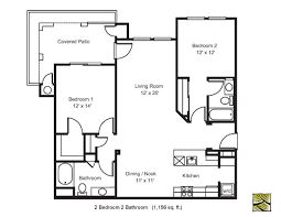 2 bed 2 bath floor plan 1156 sq ft large patio playuna