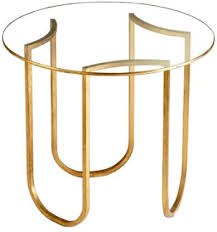 gold base colette side table