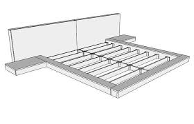 How To Build A King Platform Bed With Drawers by Building The Tokyo Floating Bed With Lights The Home Depot Community